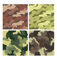 military striped seamless pattern set camouflage vector image