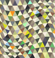 Repeating geometric tiles with triangles vector image