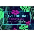 save the date tropical wedding invitation vector image