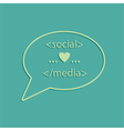 social media tags vector image