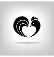 The black stylized cocks on a white background vector image