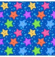 Seamless Pattern Colorful Stars Smiley vector image vector image