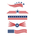 USA star flag logo design elements vector image vector image