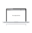 Web page on laptop vector image vector image