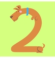 A dog makes number two vector image