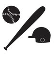 baseball icon on white background baseball sign vector image