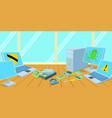computers repair horizontal banner cartoon style vector image