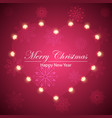 happy new year merry christmas flakes and heart vector image