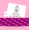 parent love logo vector image