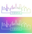 vienna skyline colorful linear style vector image