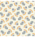 Abstract seamless pattern with plants vector image