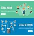 Social media network website templates vector image