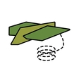 paper plane different launch fly line dotted vector image