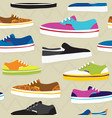 Hand drawn cartoon style skateboarding sneaker vector image