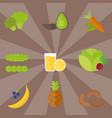 vegan food nature restaurant fruit vegetarian vector image vector image