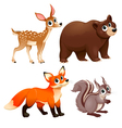Funny animals of the wood vector image