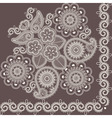 mehndi abstract flowers vector image vector image