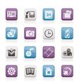 mobile phone menu icons vector image