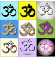 Various Om Aum Symbol vector image