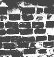 Brickwork brick wall of an old house black and vector image