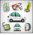 Car and accessories vector image