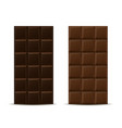 dark and milk chocolate bars vector image