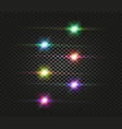 flash space green turquoise yellow red pink vector image