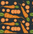 fresh organic vegetables pattern vector image
