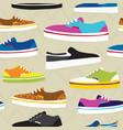 Hand drawn cartoon style skateboarding sneaker vector image