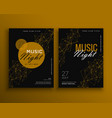 music night party flyer template design vector image