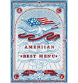 Vintage Graphic Page for American Menu vector image