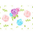 vintage watercolor flower seamless pattern vector image