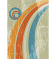 abstract sun rainbow grunge background vector image vector image