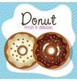 delicious donuts bakery shop vector image