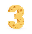 number three on white for design vector image vector image