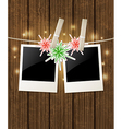 Christmas background with photo vector image vector image