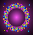 Gorgeous celebration card with colorful balloon vector image
