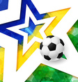 Soccer football poster Mosaic background in Brazil vector image