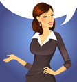 woman speak vector image