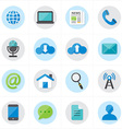 Flat Icons For Web Icons and Internet Icons vector image