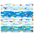 airplane borders vector image vector image