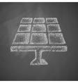 solar battery icon vector image