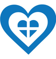 Greece Heart vector image vector image