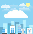 Abstract city buildings set Flat design presentati vector image vector image