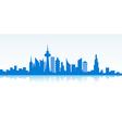 Blue cityscape banner vector image
