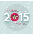 Christmas typographical background Modern flat vector image