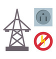 electric outlet energy socket vector image