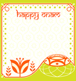 onam holiday card vector image