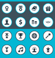 Set of simple awards icons vector image