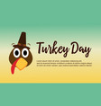 thanksgiving theme turkey day collection vector image